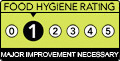 Food Hygiene Rating: 1 (Major Improvement Necessary)