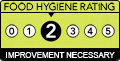 Food Hygiene Rating: 2 (Improvement Necessary)