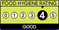 Food Hygiene Rating: 4 (Good)