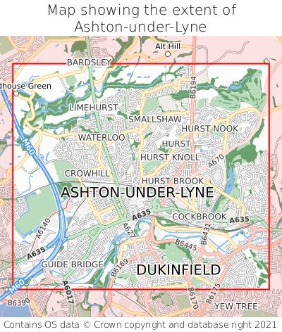 Where is Ashton-under-Lyne? Ashton-under-Lyne on a map